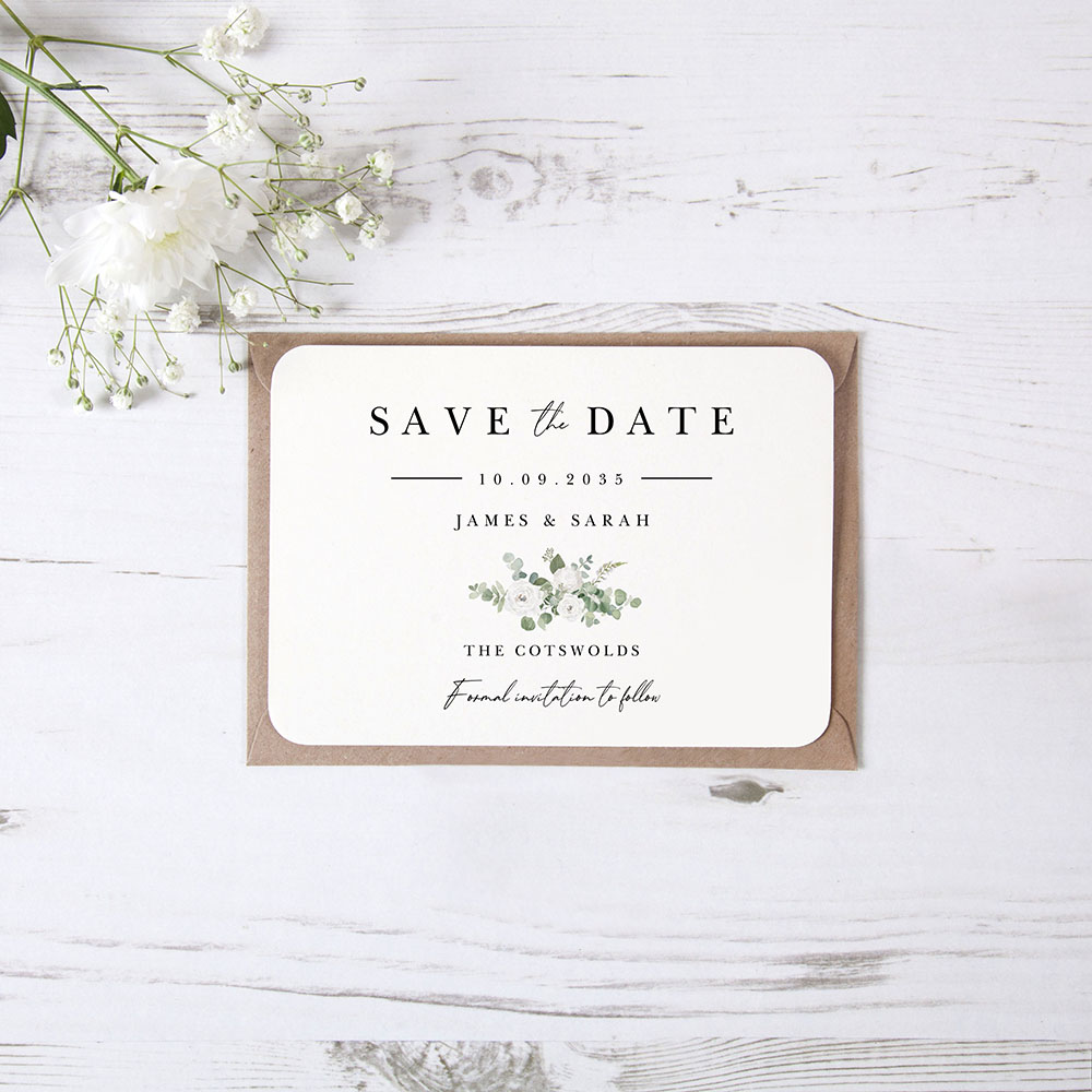 'Classic Eucalyptus CE18' Save the Date