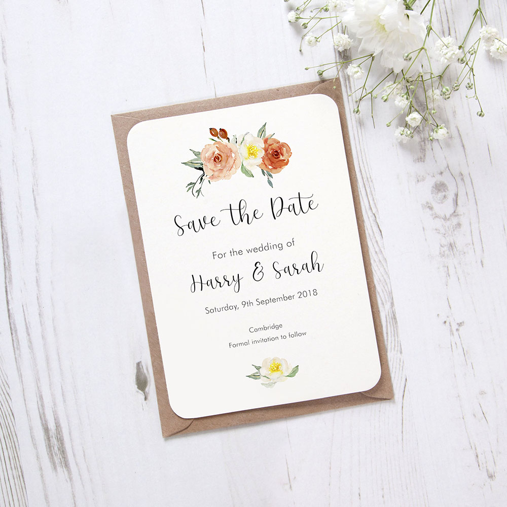 'Dahlia Rose' Save the Date Sample