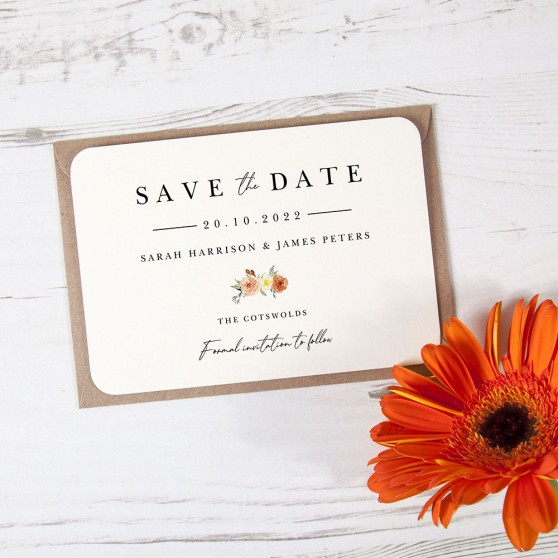 'Classic Dahlia Rose RD11' Save the Date