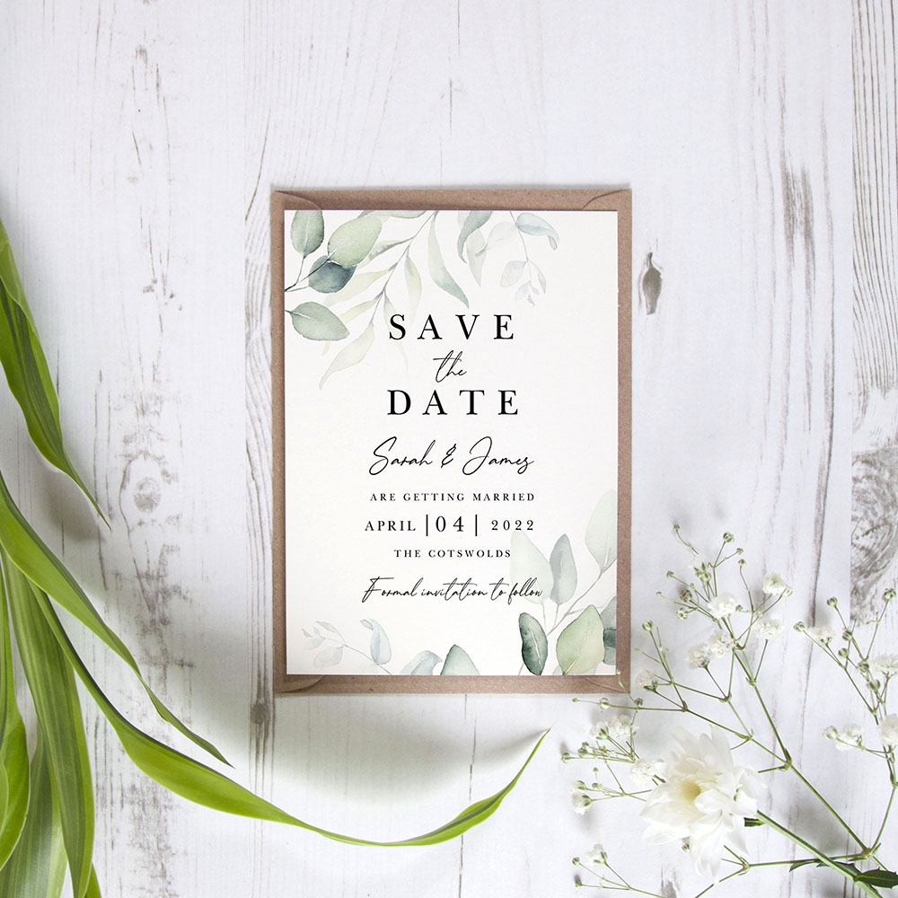 'Dreamy Eucalyptus DE10' Save the Date