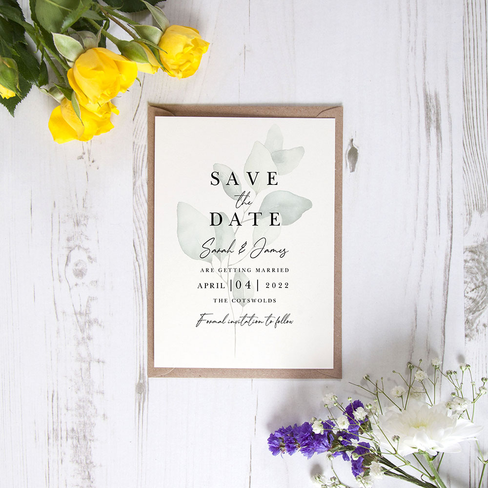 'Dreamy Eucalyptus DE11' Save the Date