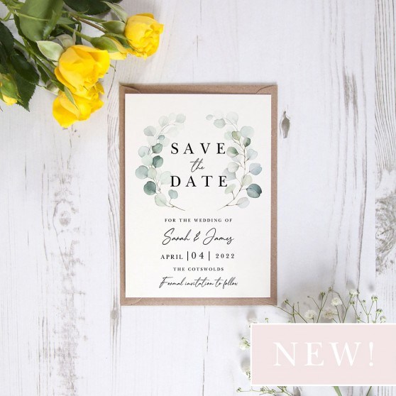 'Dreamy Eucalyptus DE12' Save the Date