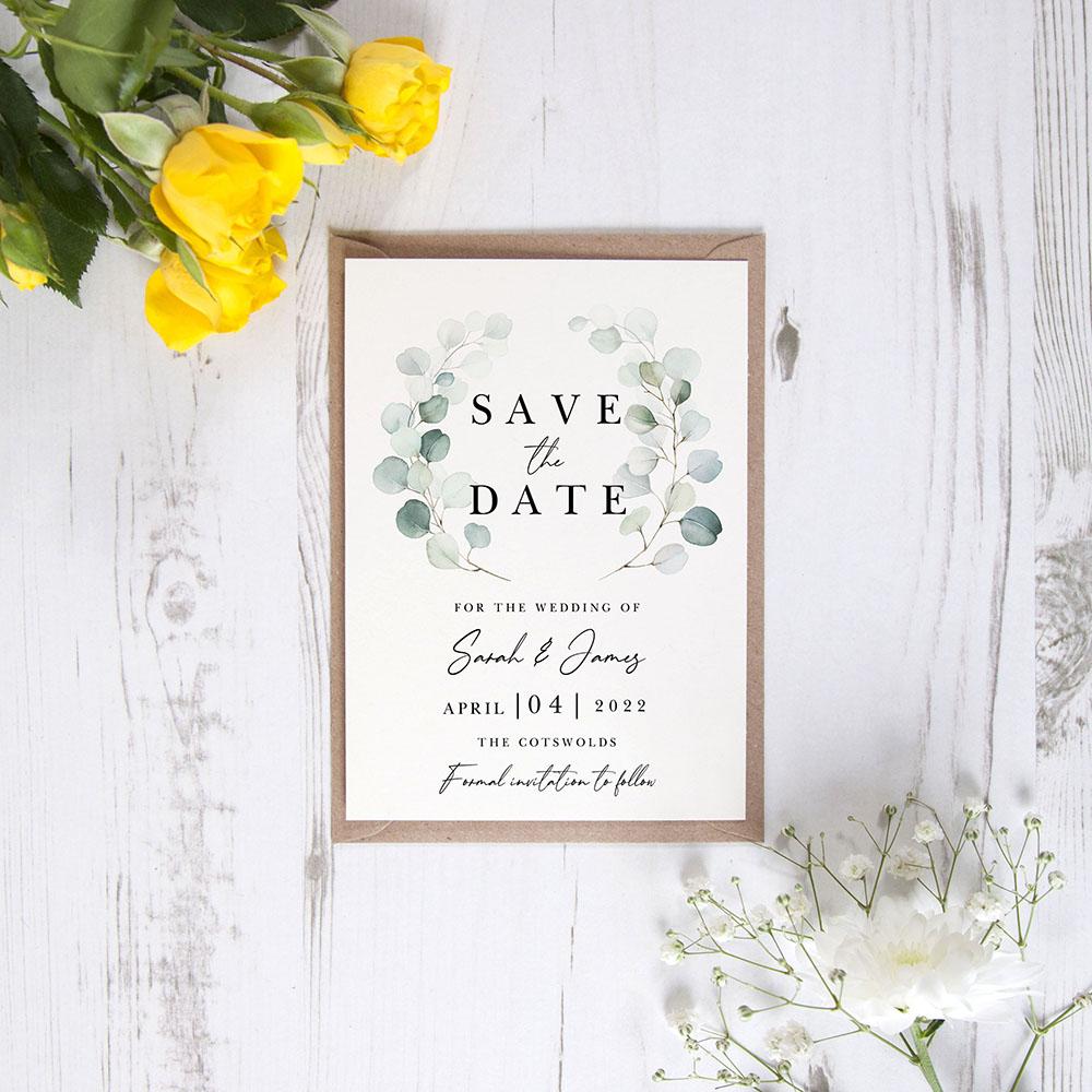 'Dreamy Eucalyptus DE12' Save the Date