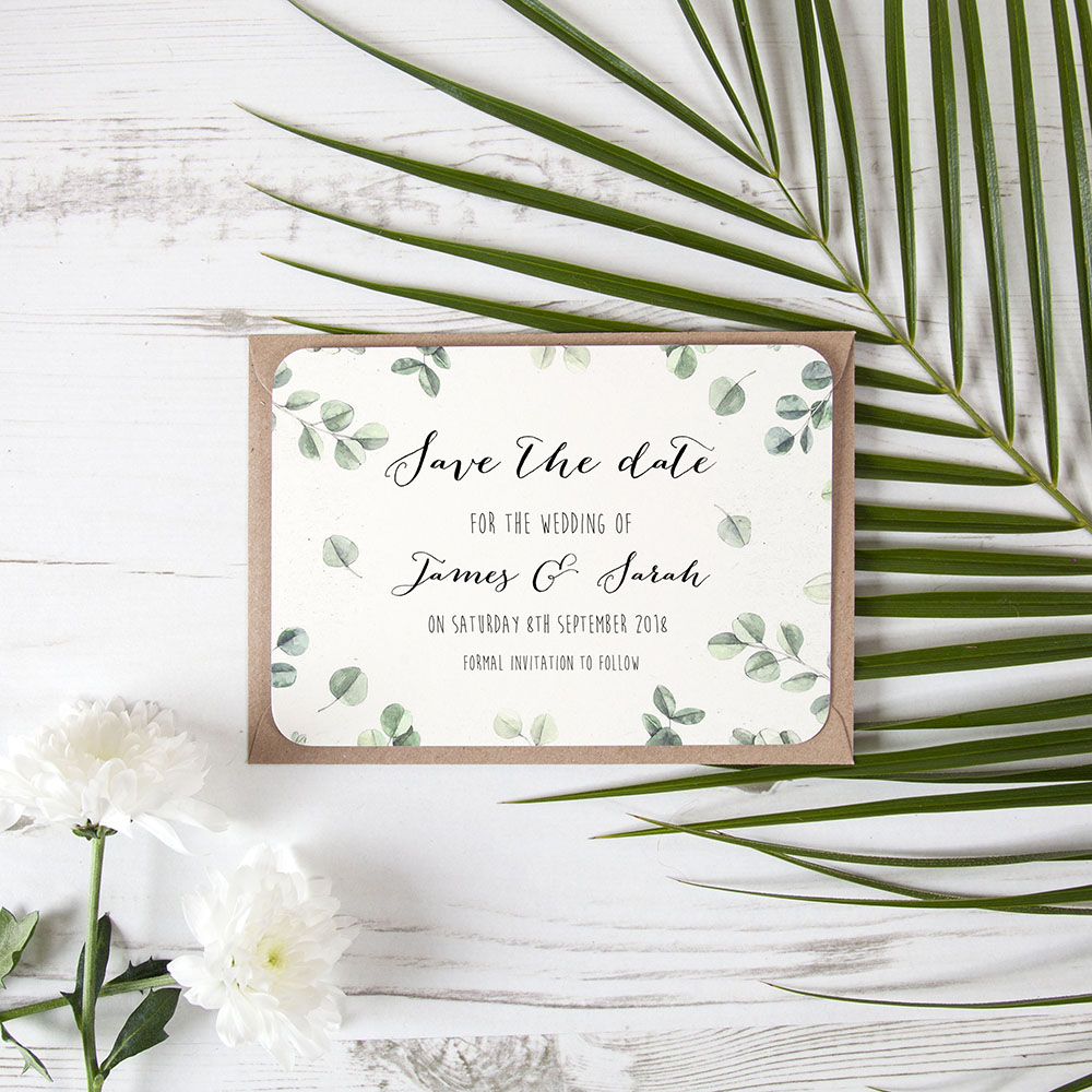 'Eucalyptus' Save the Date