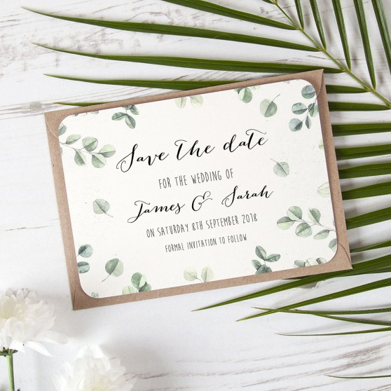 'Eucalyptus' Save the Date Sample