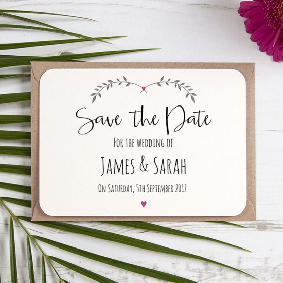 'Fuchsia Ivy Design' Save the Date