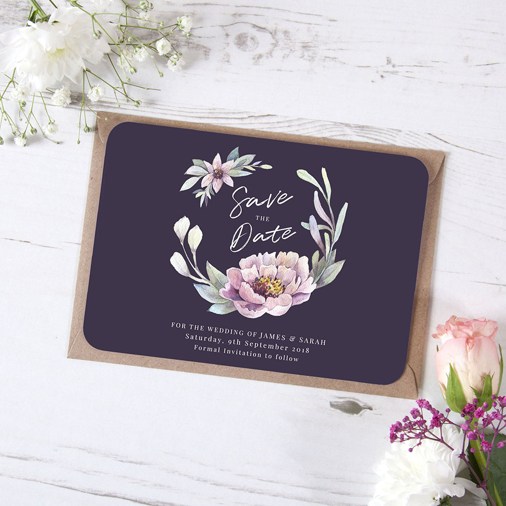 'Henrietta Dusk' Save the Date Sample