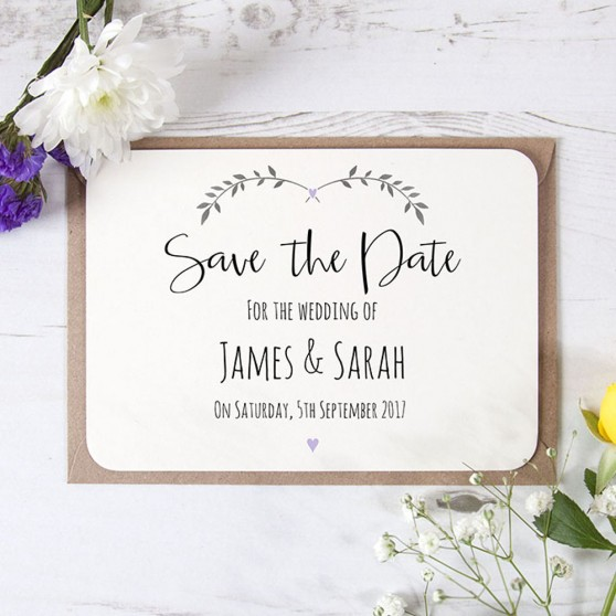 'Lavender Ivy Design' Save the Date