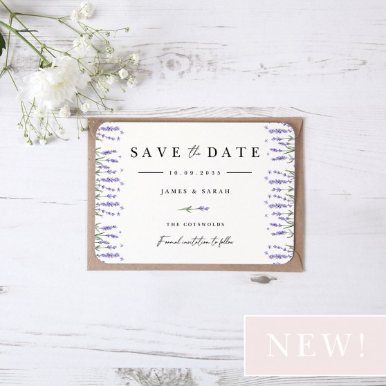'Lavender L10' Save the Date Sample