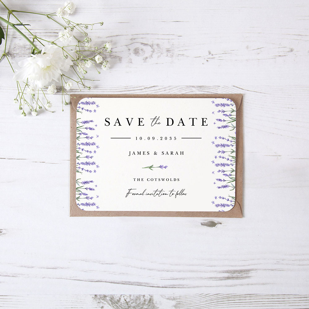 'Lavender L10' Save the Date