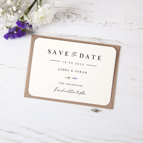 'Lavender L11' Save the Date Sample