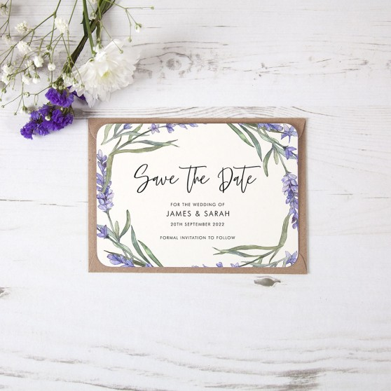 'Lavender' Save the Date Sample