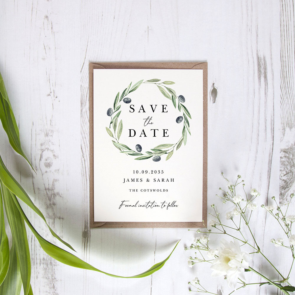 'Olive Leaves' Save the Date