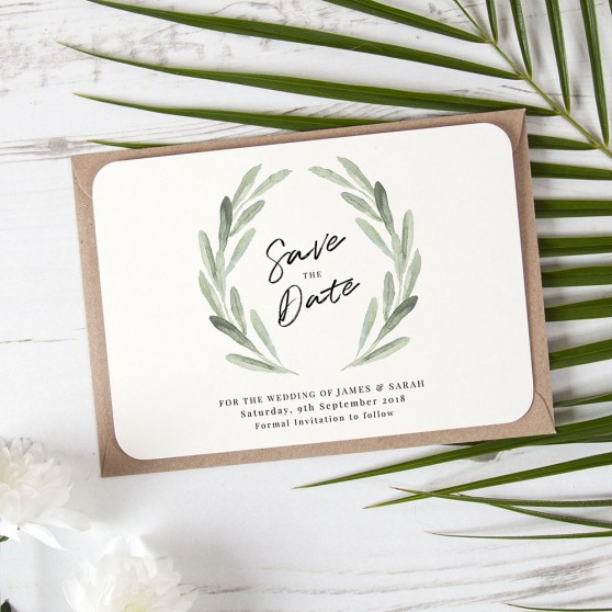 'Olive' Save the Date Sample