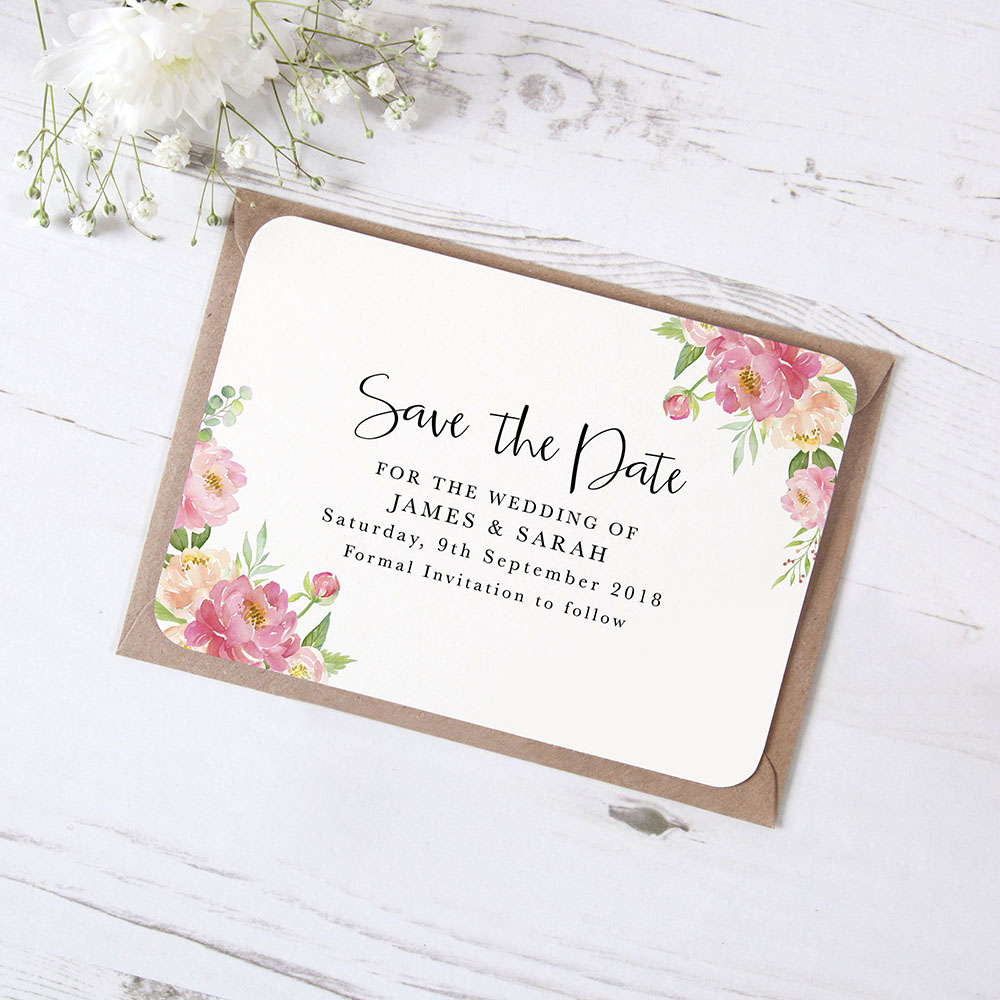 'Peony' Save the Date Sample