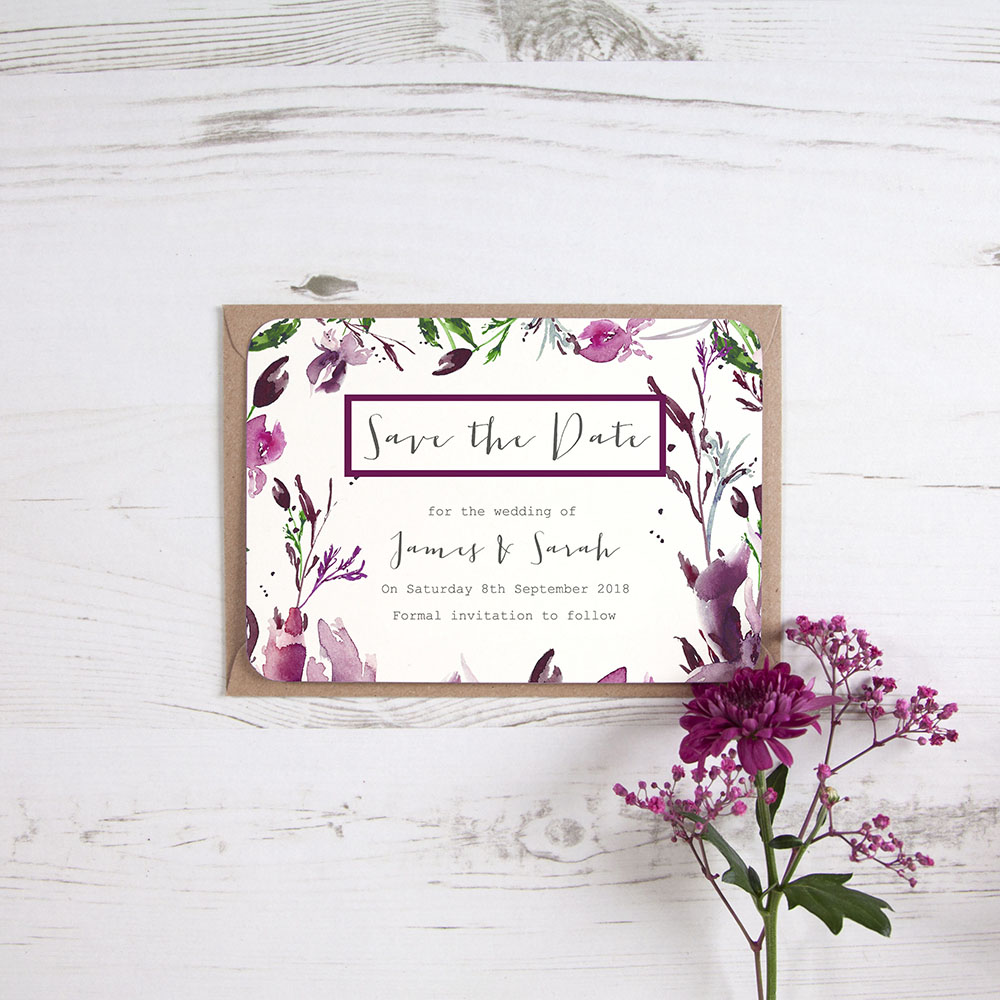 'Pink Iris' Save the Date