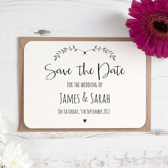 'Red Ivy Design' Save the Date Sample