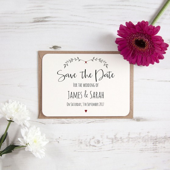 'Red Ivy Design' Save the Date