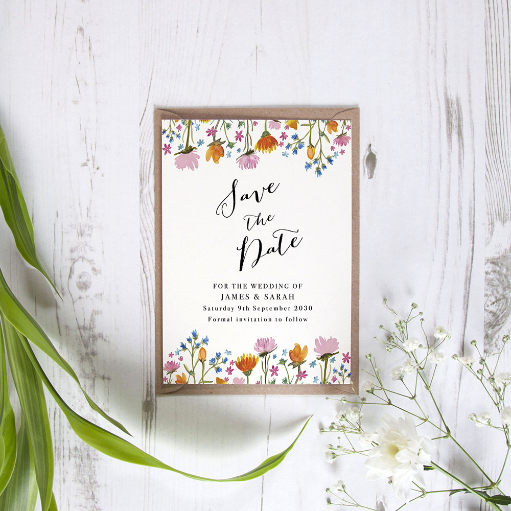 'Wild Floral' Save the Date