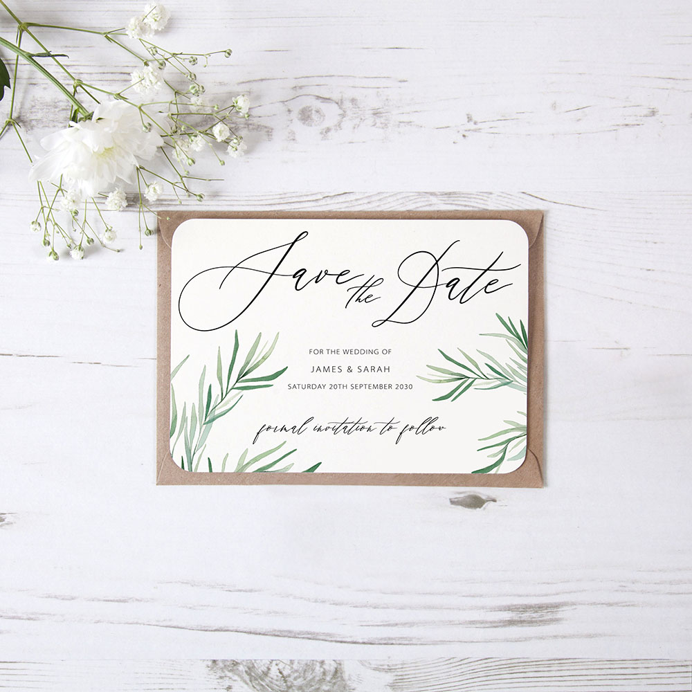 'Willow Eucalyptus' Save the Date