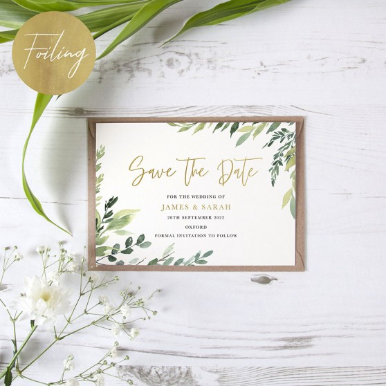 'Back to Nature' Foil Save the Date