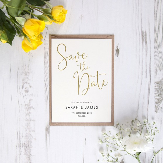 'Charles Portrait' Foil Save the Date Sample