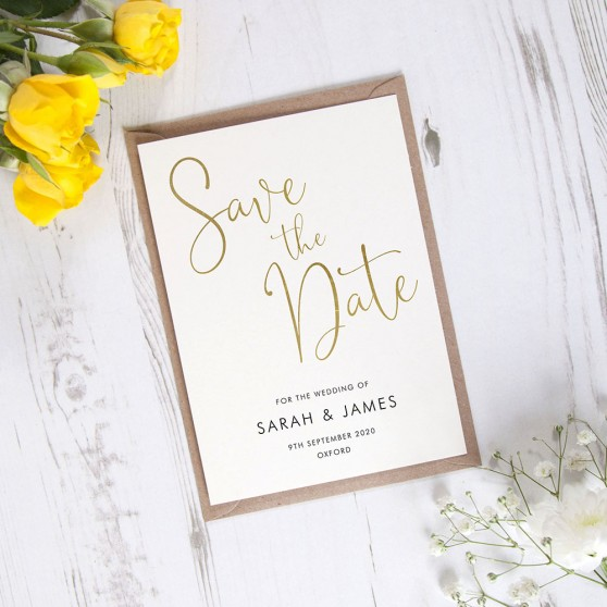 'Charles Portrait' Foil Save the Date