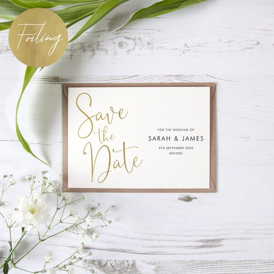 Foil Save the Date Samples