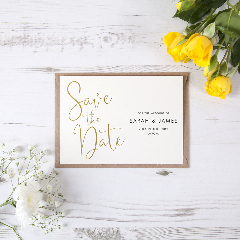'Charles Landscape' Foil Save the Date