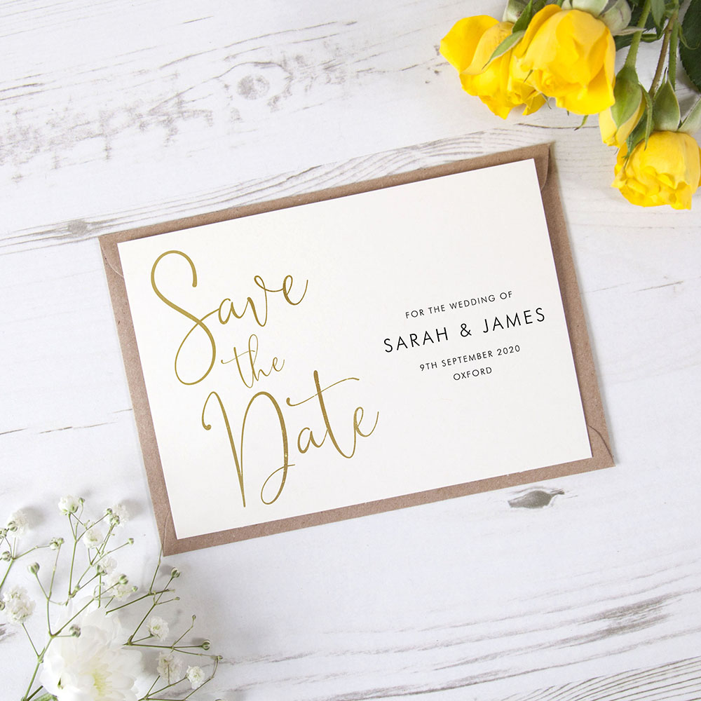 'Charles Landscape' Foil Save the Date Sample