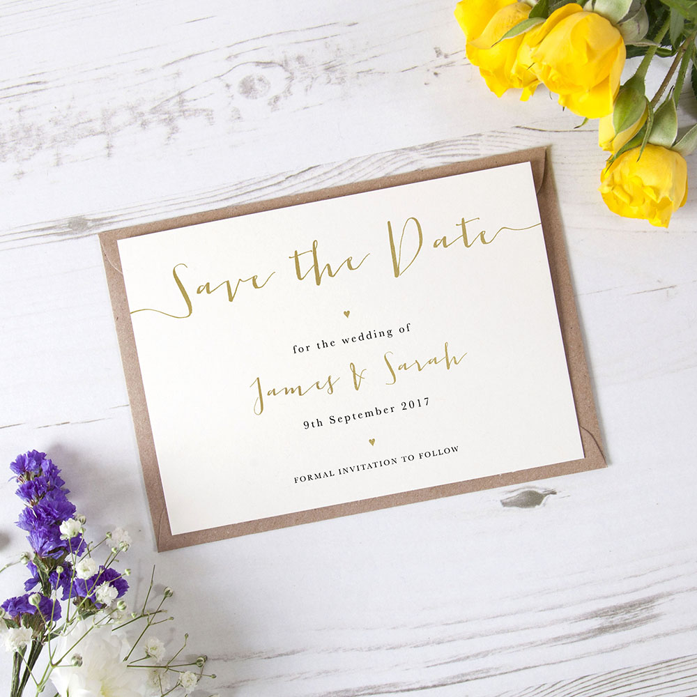 'Sienna' Foil Save the Date