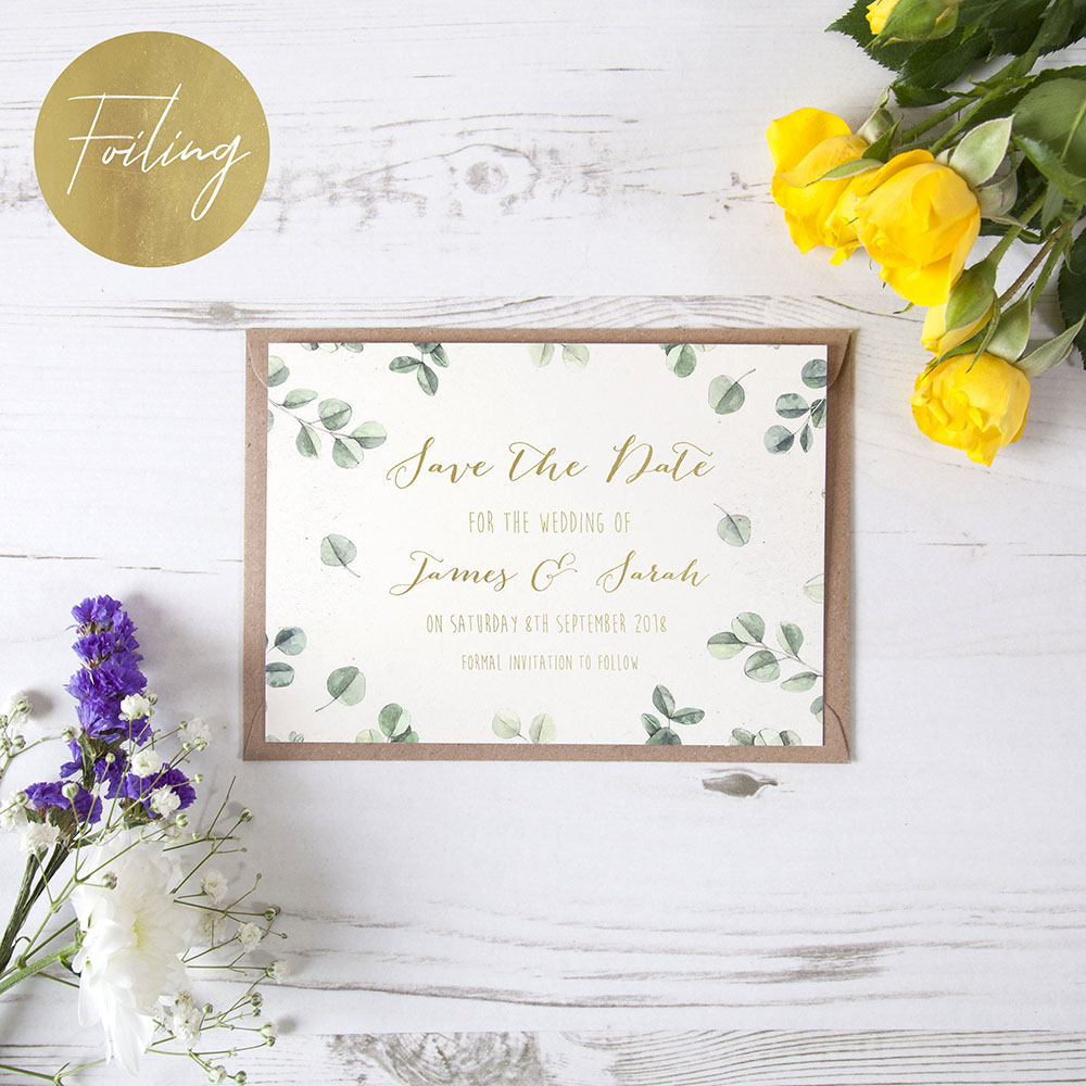 'Eucalyptus' Foil Save the Date