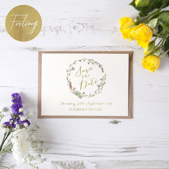 'Genevieve' Foil Save the Date