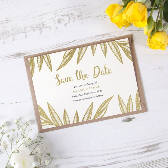 'Georgia' Foil Save the Date