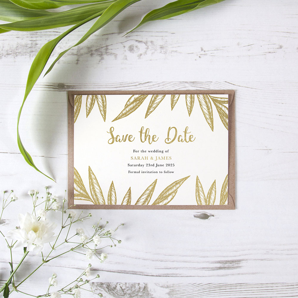 'Georgia' Foil Save the Date Sample