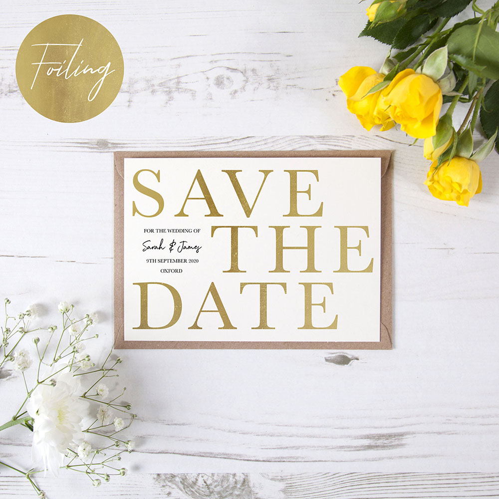 'Henry' Foil Save the Date