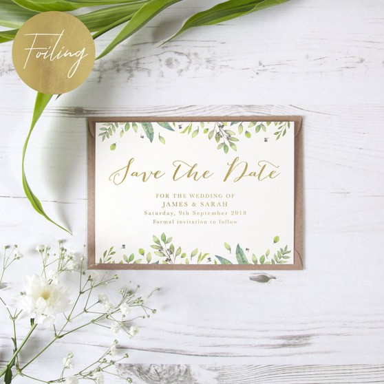 'Imogen Landscape' Foil Save the Date