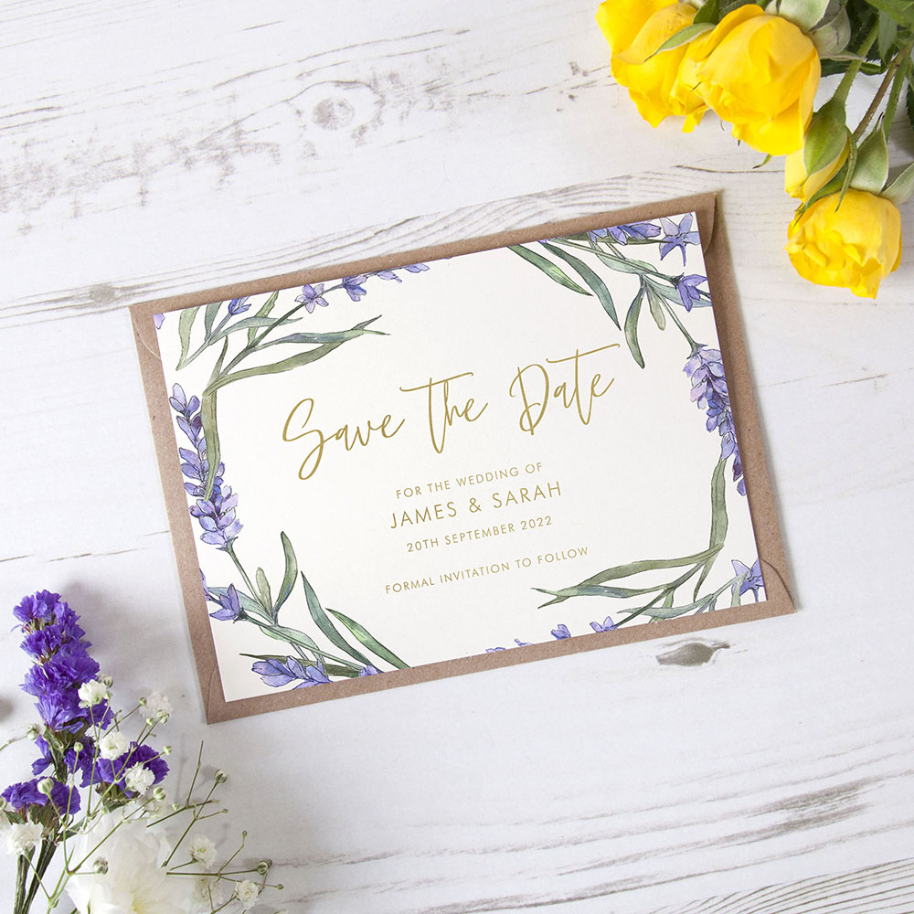 'Lavender' Foil Save the Date