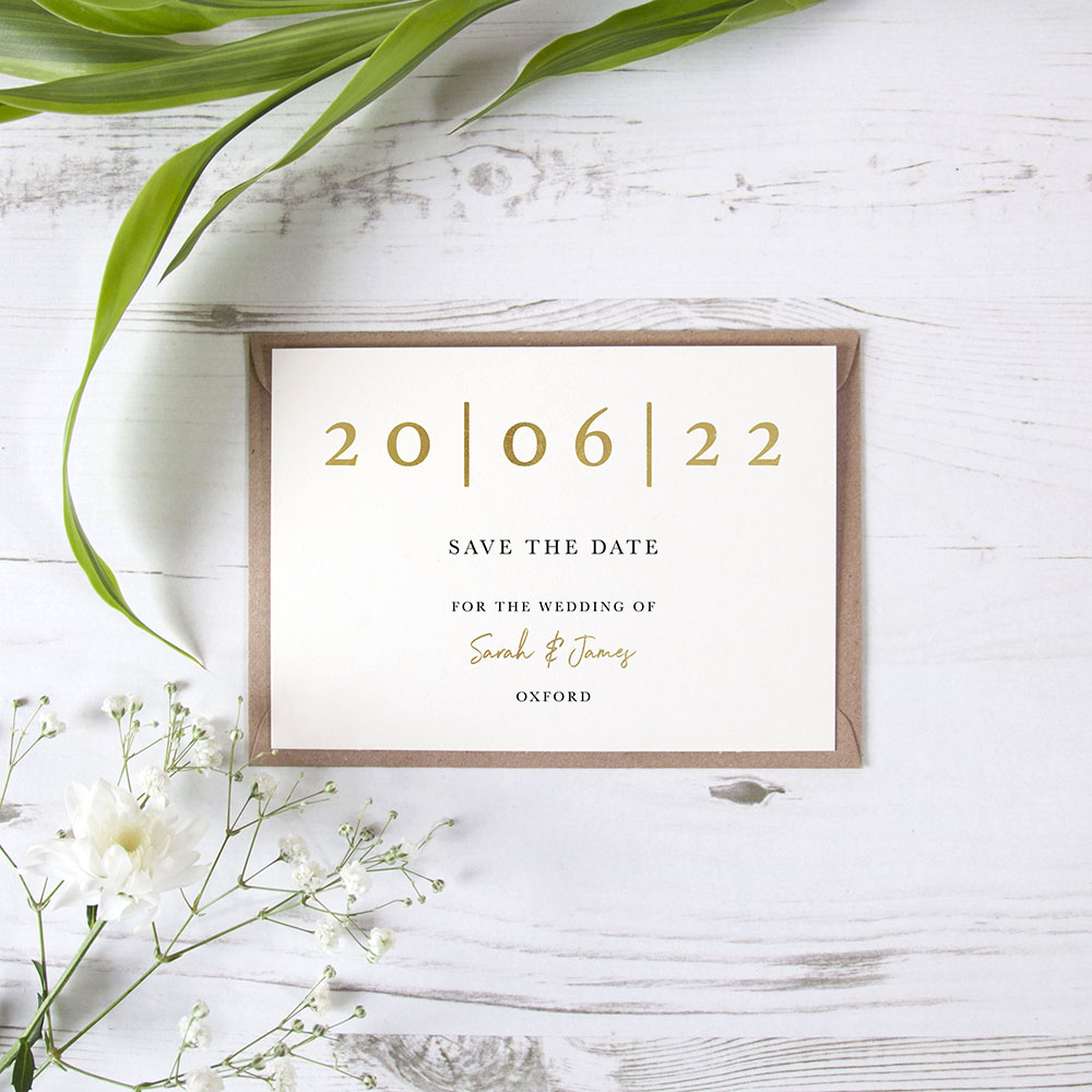 'Oliver' Foil Save the Date Sample