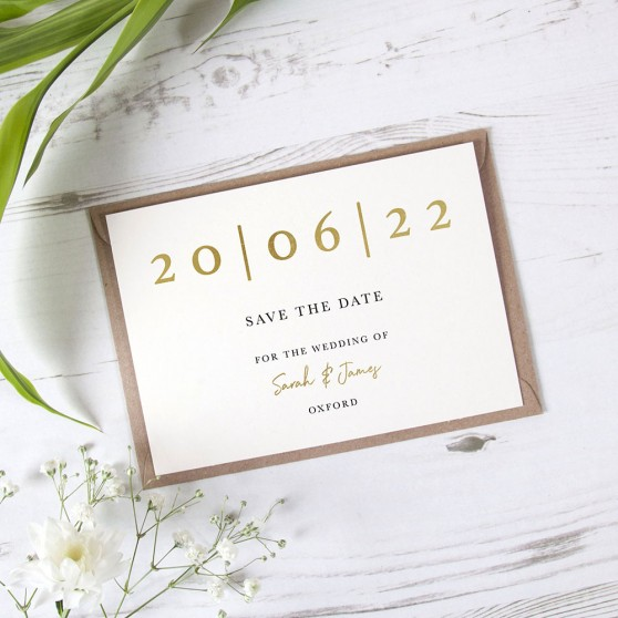 'Oliver' Foil Save the Date