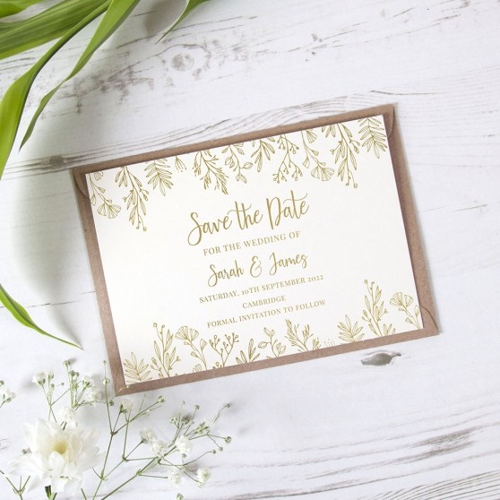 'Sophia' Foil Save the Date