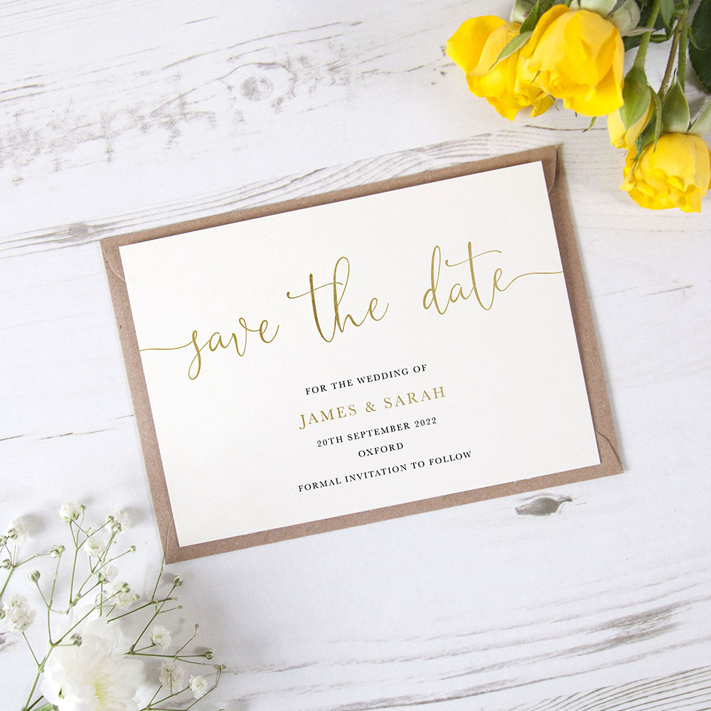 'William' Foil Save the Date