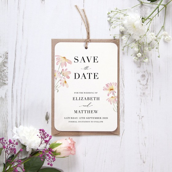 Hole-punched Save the Date Samples