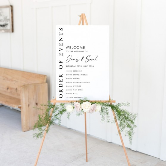 'Matthew' Wedding Order of Events Sign A2/A1