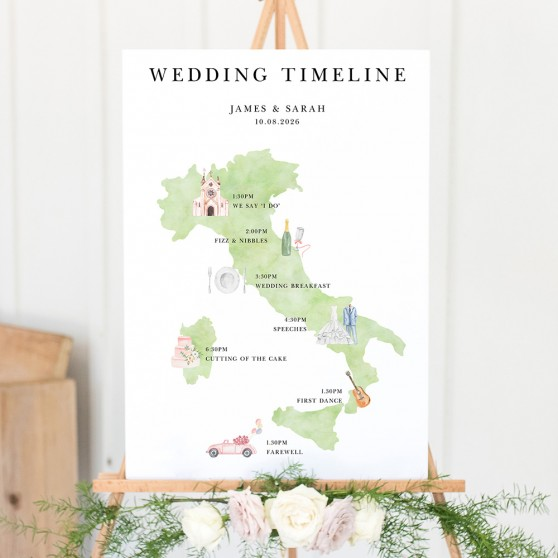 'Italy' Wedding Timeline A2/A1