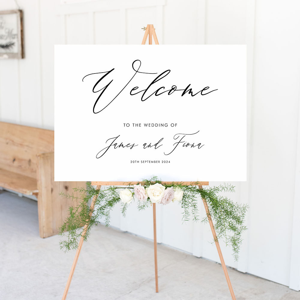 'Fiona' Welcome Sign A2/A1
