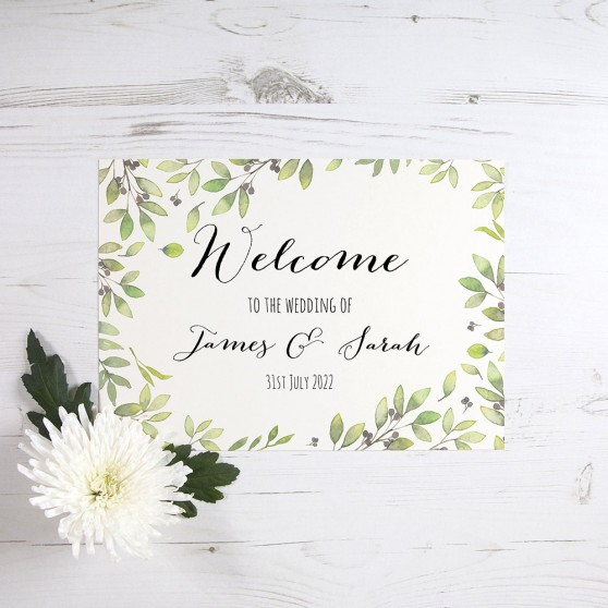 'Arabella' Welcome Sign - A5/A4/A3