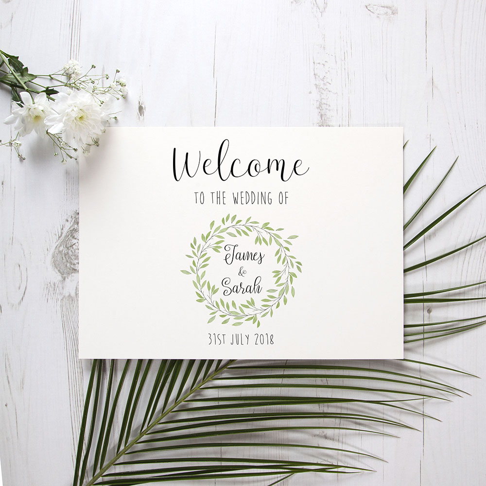'Autumn Green' Welcome Sign - A6/A5/A4/A3