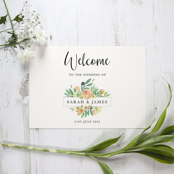 'Bella' Welcome Sign - A6/A5/A4/A3