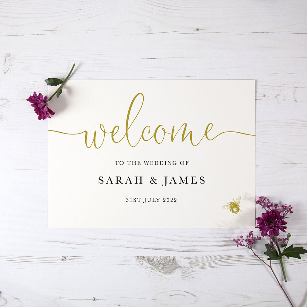 'Bumble Bee' Welcome Sign - A6/A5/A4/A3